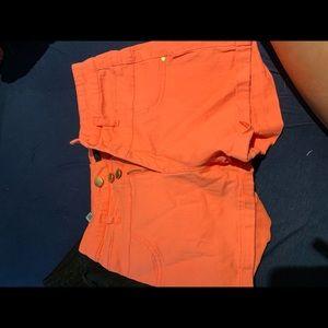 Black & Peach colored shorts